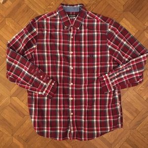CHAPS Easy Care Thanksgiving Plaid Shirt Large